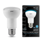 Лампа светодиодная Gauss LED Reflector R63 E27 9W 4100K 1/10/40