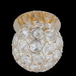 Светильник Gauss Brilliance CR061 Шар Кристалл/Золото, G9