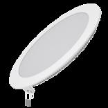 Светодиодный встраиваемый светильник Gauss ультратонкий круглый IP20 18W 2700K 1/20