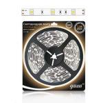 Светодиодная лента 5050/30-SMD 7.2W 12V DC теплый белый (блистер 5м)