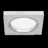 Светильник Gauss Aluminium AL006 Квадрат. Матовый алюминий, Gu5.3 1/30