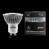 Лампа светодиодная Gauss LED 5W GU10 4100K диммируемая (нейтральный свет)