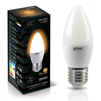 Лампа светодиодная Gauss LED свеча металл 4W E27 2700K (теплый свет)