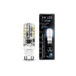 Лампа светодиодная Gauss LED G9 AC185-265V 3W 4100K 1/20/200