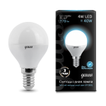 Лампа светодиодная Gauss LED шар металл 4W E14 4100K (нейтральный свет)