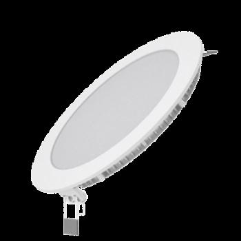 Светодиодный встраиваемый светильник Gauss ультратонкий круглый IP20 12W 4100K 1/20