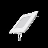 Светодиодный встраиваемый светильник Gauss ультратонкий квадратный IP20 6W 4100K 1/20