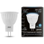 Лампа светодиодная Gauss LED D35*45 3W MR11 GU4 4100K 1/10/100
