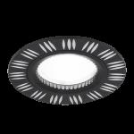 Светильник Gauss Aluminium AL018 Круг. Золото/Черный, Gu5.3 1/100