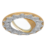 Светильник Gauss Strass CA024 Круг. Серебро/Золото, Gu5.3 1/100