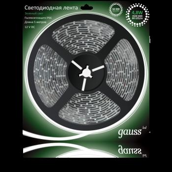 Светодиодная лента LED 2835/60-SMD 4.8W 12V DC зеленый IP66 (блистер 5м)