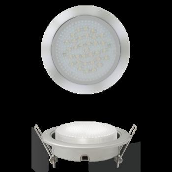 Светильник встраиваемый GX53 усиленный с монтажной колодкой хром
