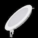 Светодиодный встраиваемый светильник Gauss ультратонкий круглый IP20 15W 4100K 1/20