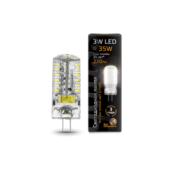 Лампа светодиодная Gauss LED G4 AC185-265V 3W 2700K 1/20/200