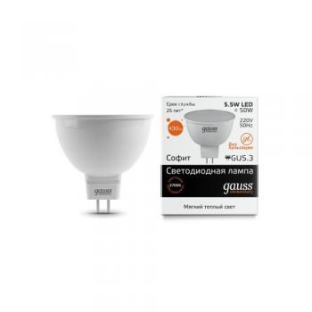 Лампа светодиодная Gauss LED Elementary MR16 GU5.3 5,5W 2700К 1/10/100