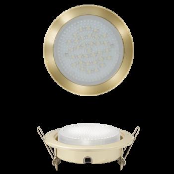 Светильник встраиваемый GX53 усиленный с монтажной колодкой золото