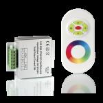 Контроллер для RGB 144W 12А с сенсорный пультом управления цветом (белый)