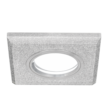 Светильник Gauss Mirror RR009 Квадрат. Кристал cеребро/Хром, Gu5.3 1/50