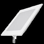 Светодиодный встраиваемый светильник Gauss ультратонкий квадратный IP20 12W 4100K 1/20