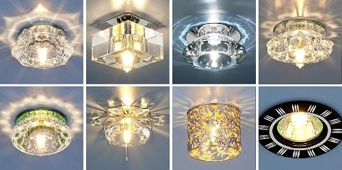 фото светильники светодиодные для натяжных потолков